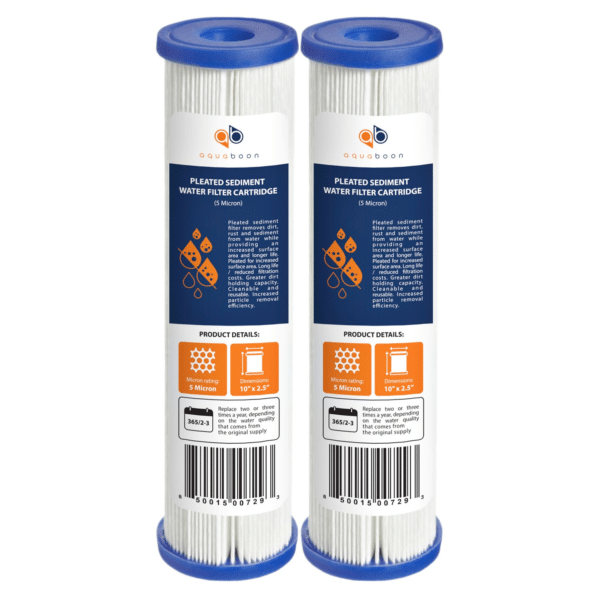 5 Micron Pleated Sediment Water Filter Cartridge