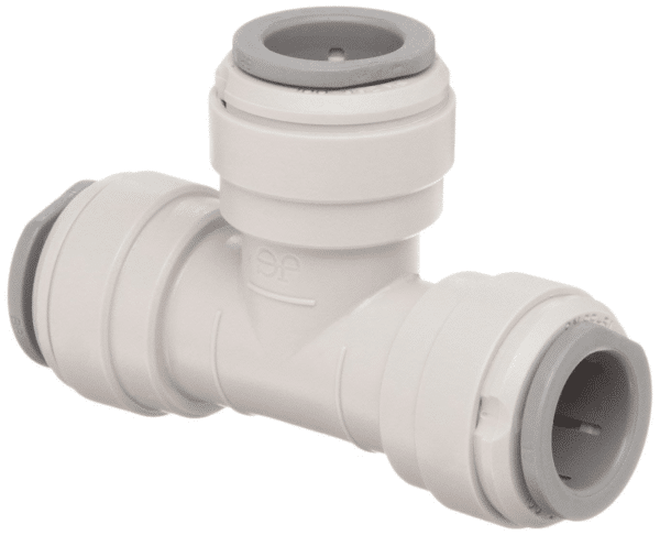 Tee Union Push Connect 1/4 Inch OD Tube